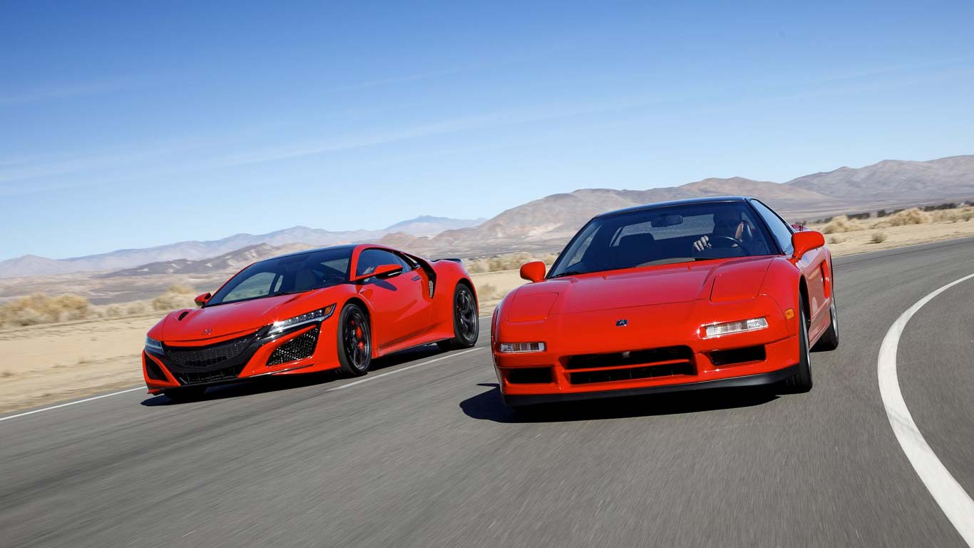 "Honda NSX the ""New Sport eXperience"""